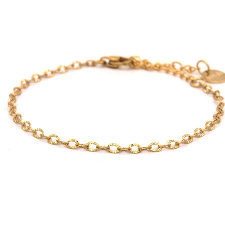 Armband,rvs,fijn,goud,braid,indah