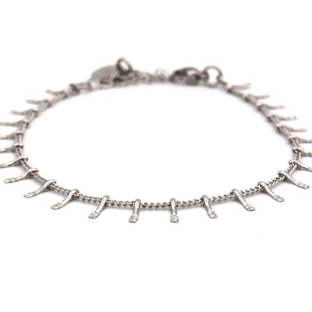 Armband,rvs,fijn,zilver,mini Spikes,indah