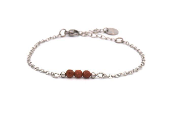 Elif,armband,zilver,goudsteen,bruin,rood,natuursteen,facet,rvs,indah,1