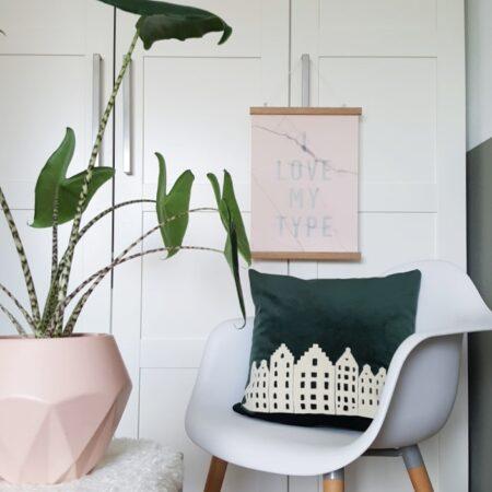 AMSTERDAM CITY PILLOW – ROYAL GREEN – VELVET