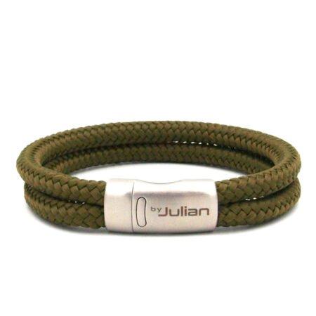 Laut Ganda Groen,army, Koord,armband,heren Armband,mannen Armband,rvs,1,byjulian
