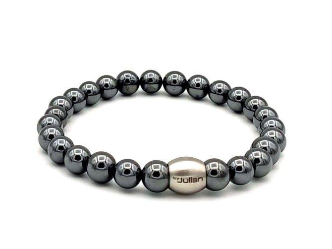 Nane Hematiet,heren Armband,mannen Armband,natuursteen,zilver,rvs,1,byjulian