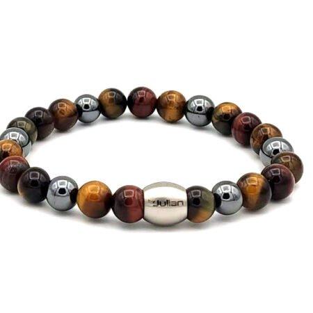 Nane Mix,bruin Hematiet,mannen Armband,heren Armband,natuursteen,1,byjulian