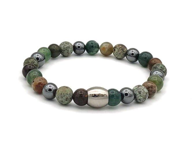 Nane Mix,groen Hematiet,heren Armband,mannenarmband,natursteen,1,byjulian