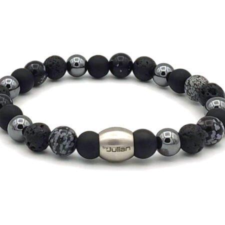Nane Mix,zwart Hematiet,mannen Armband,heren Armband,natuursteen,1,byjulian
