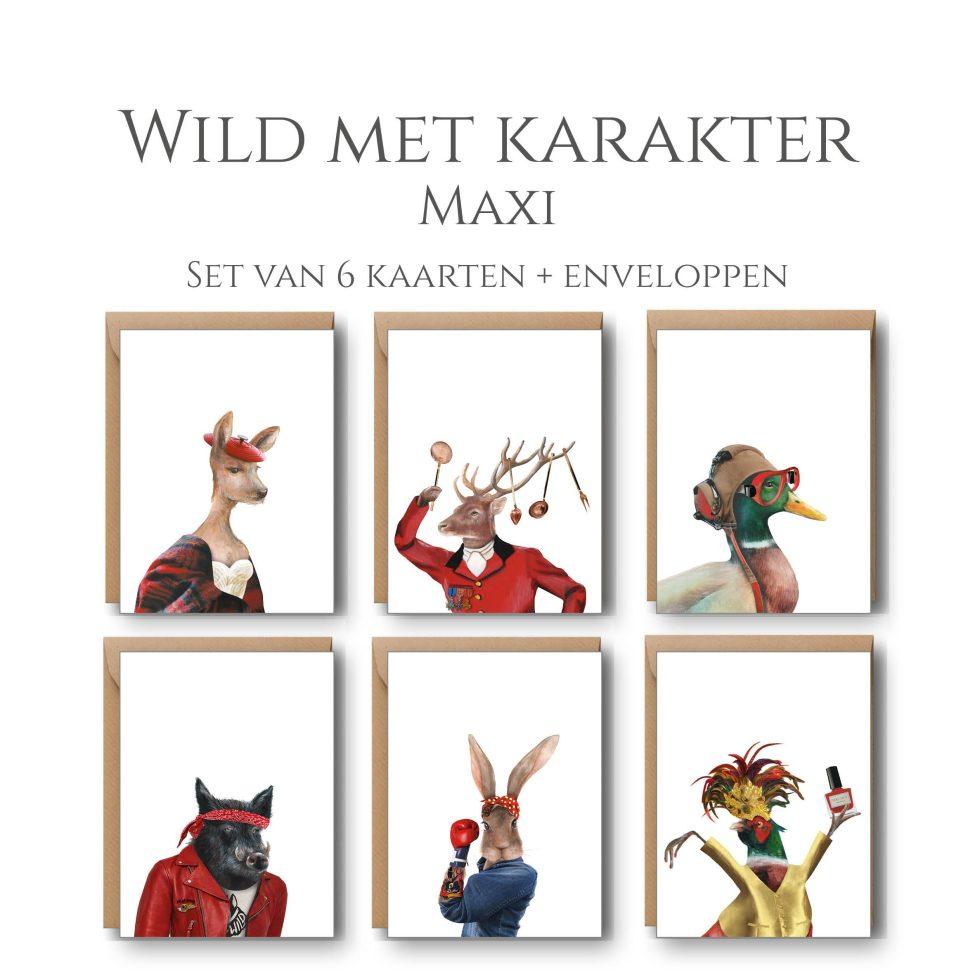 Wild Met Karakter 6 Maxi Kaarten