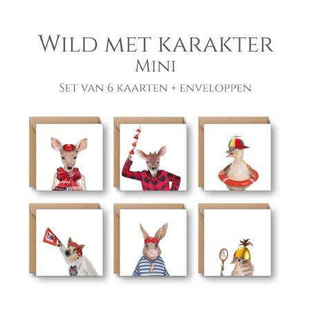 Wild Met Karakter 6 Mini Kaarten