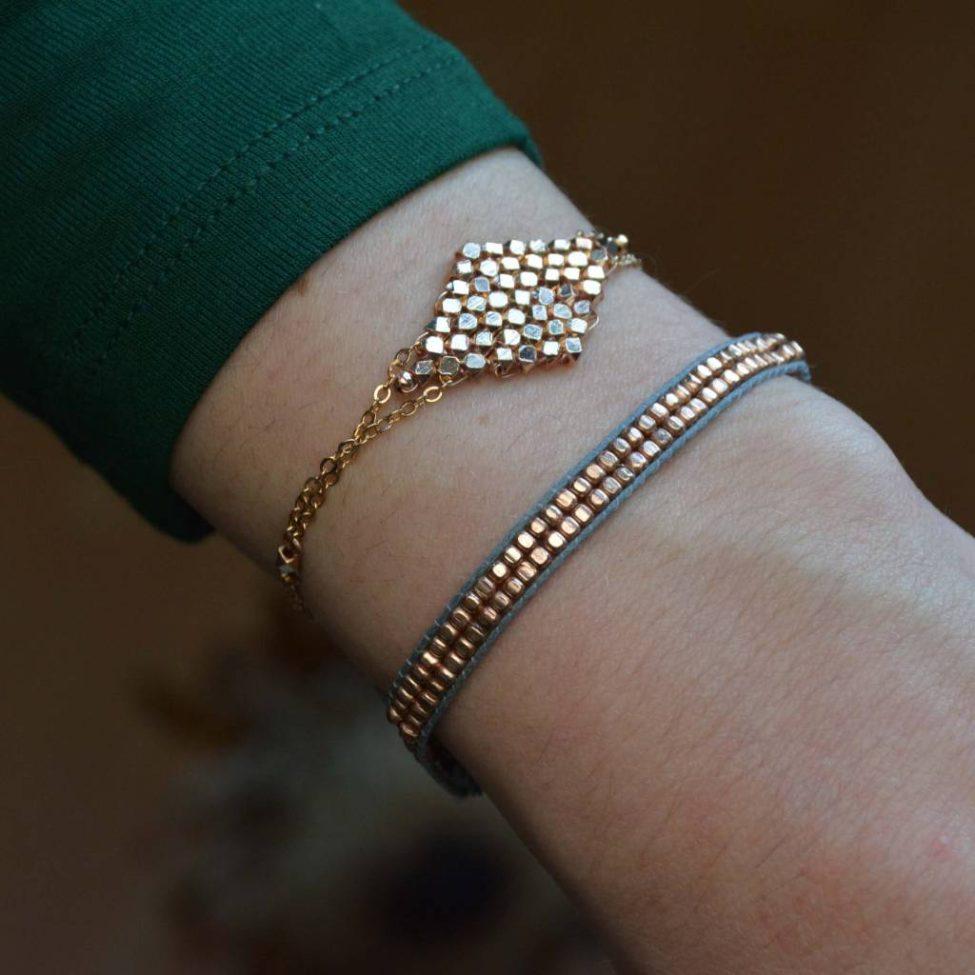 Dilli Hammer Armband Grijs2