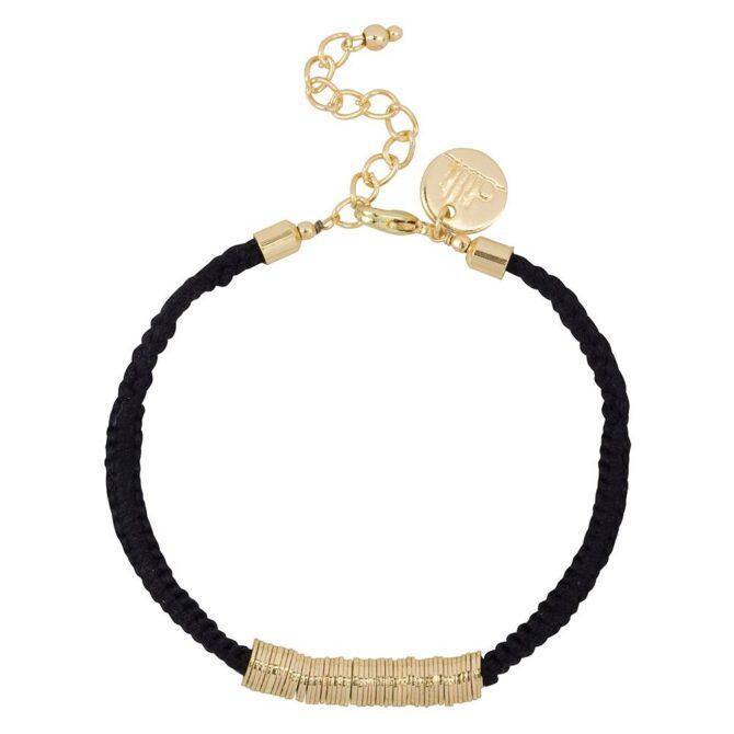 Dilli Sitara Armband Zwart Goud