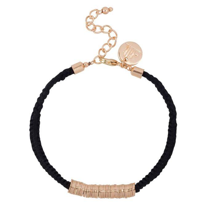 Dilli Sitara Armband Zwart Rose