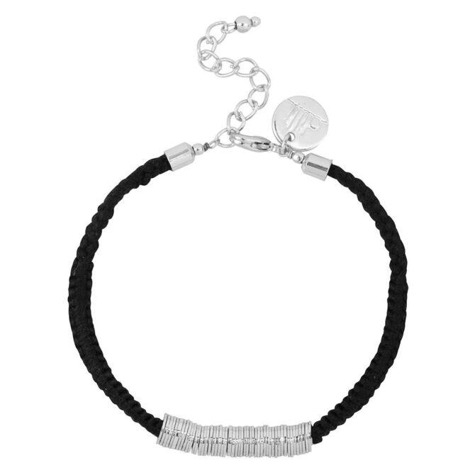 Dilli Sitara Armband Zwart Zilver