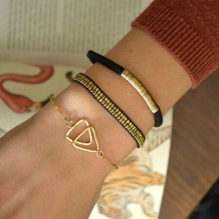 Dilli Sitara Armband Zwart Zilver Goud Rose Goud