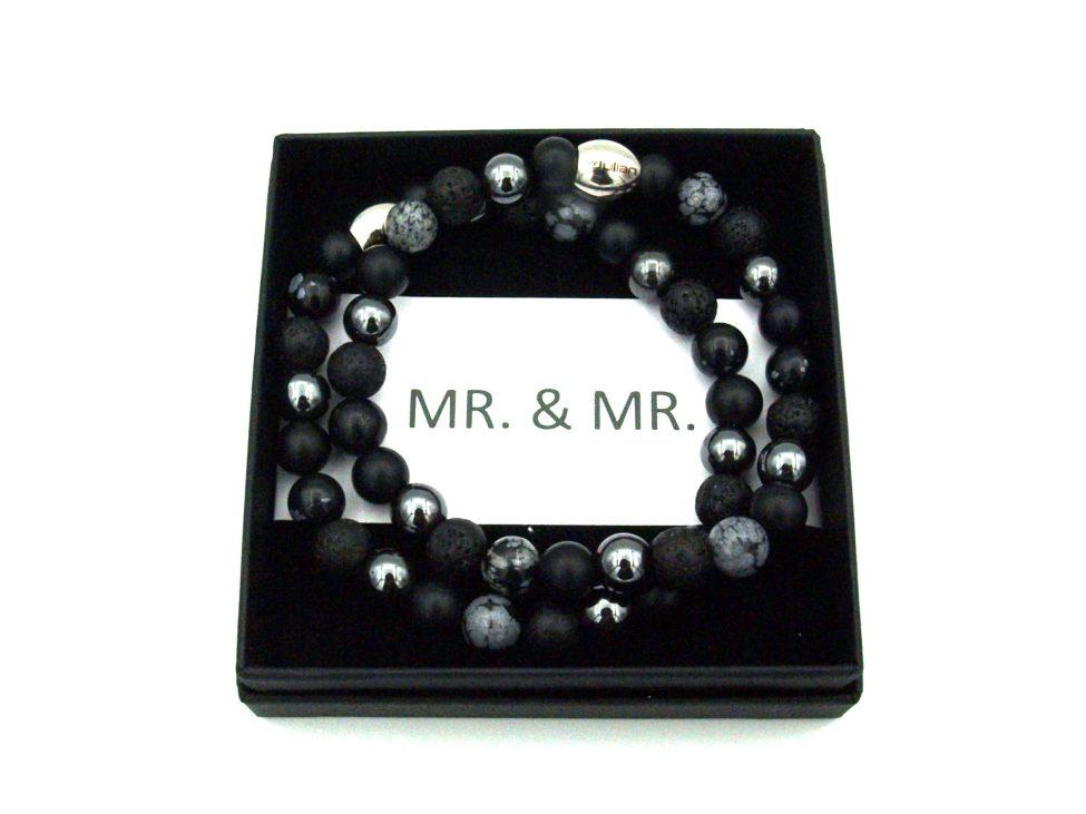Mr,mr Armband,set,mannen Armband,natuursteen,byjulian,zwart