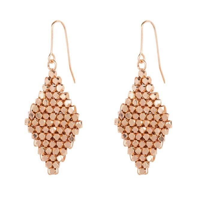 Oorbellen Jamnagar Diamond Rose Goud 1