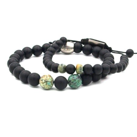 Vader,zoon Armband,turquoise,groen,zwart,byjulian