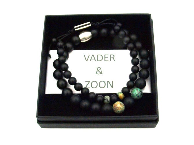 Vader,zoon Armband,turquoise,groen,zwart,set,byjulian