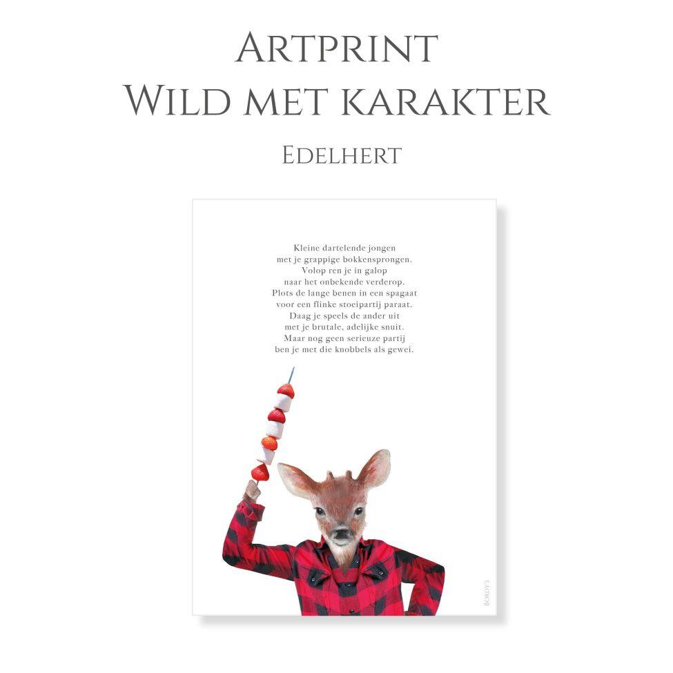 Artprint Edelhert 1