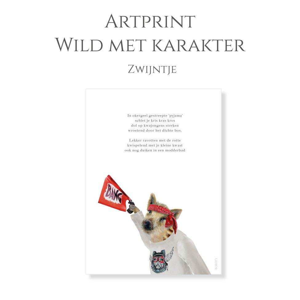 Artprint Zwijn