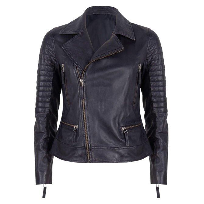 Leather Jacket Blue