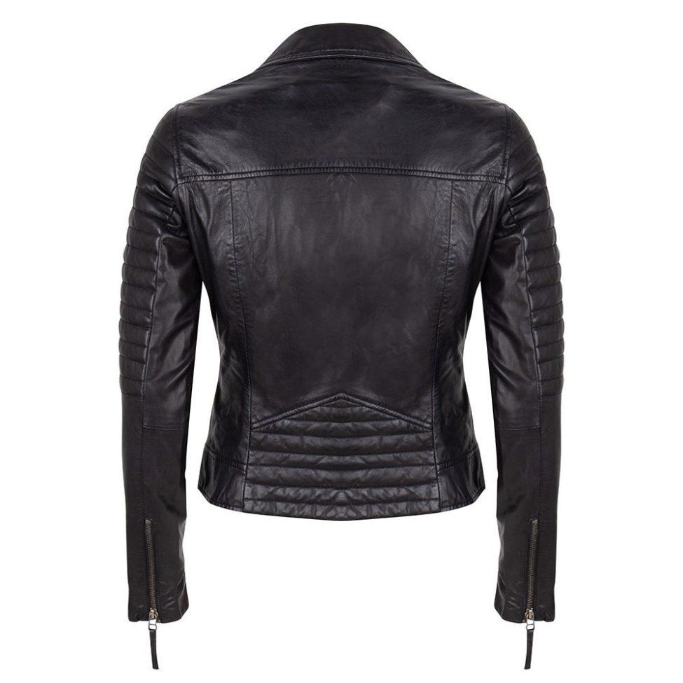 Leather Jacket Black Back