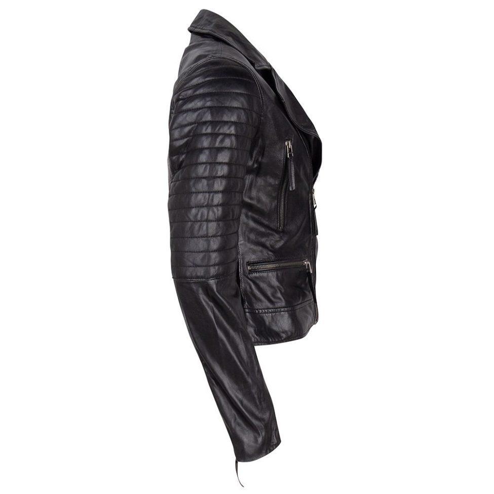 Leather Jacket Black Side