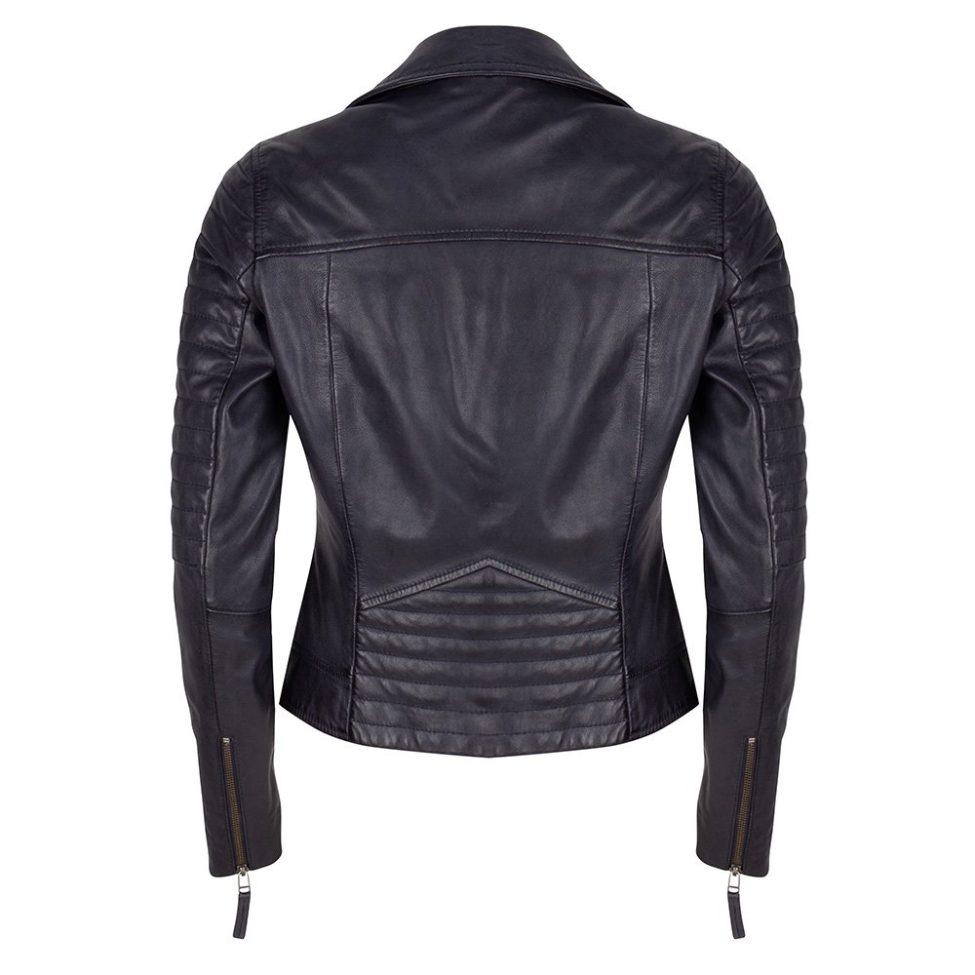 Leather Jacket Blue Back