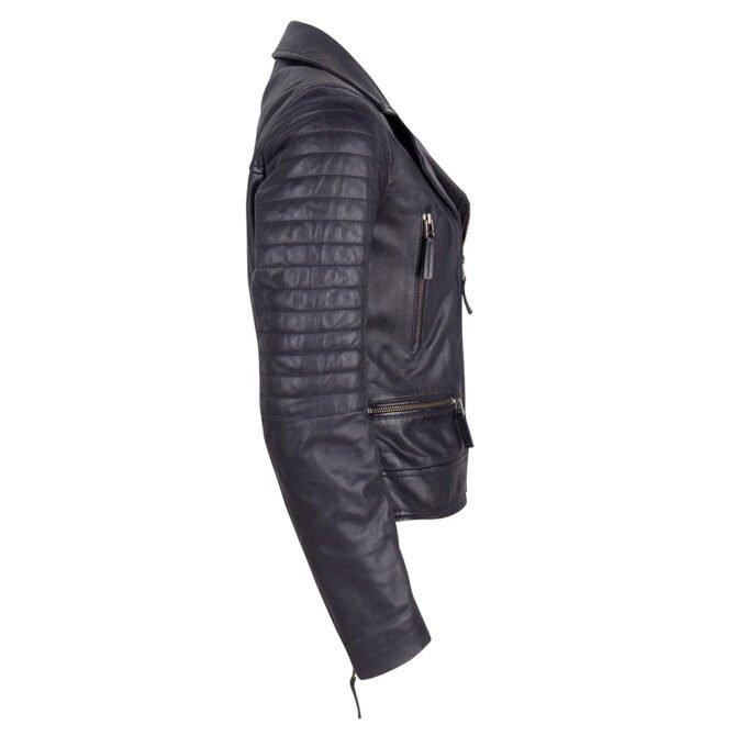 Leather Jacket Blue Side