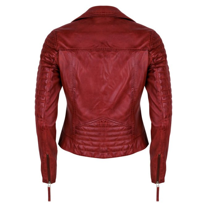 Leather Jacket Red Back