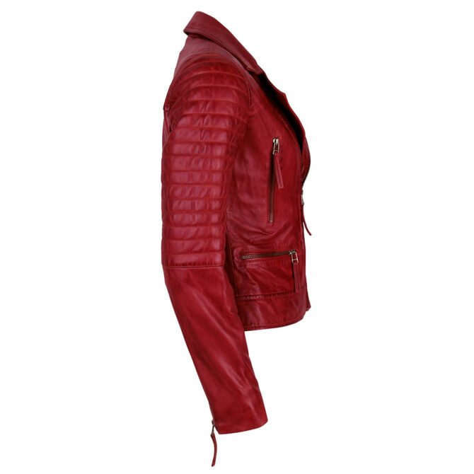 Leather Jacket Red Side