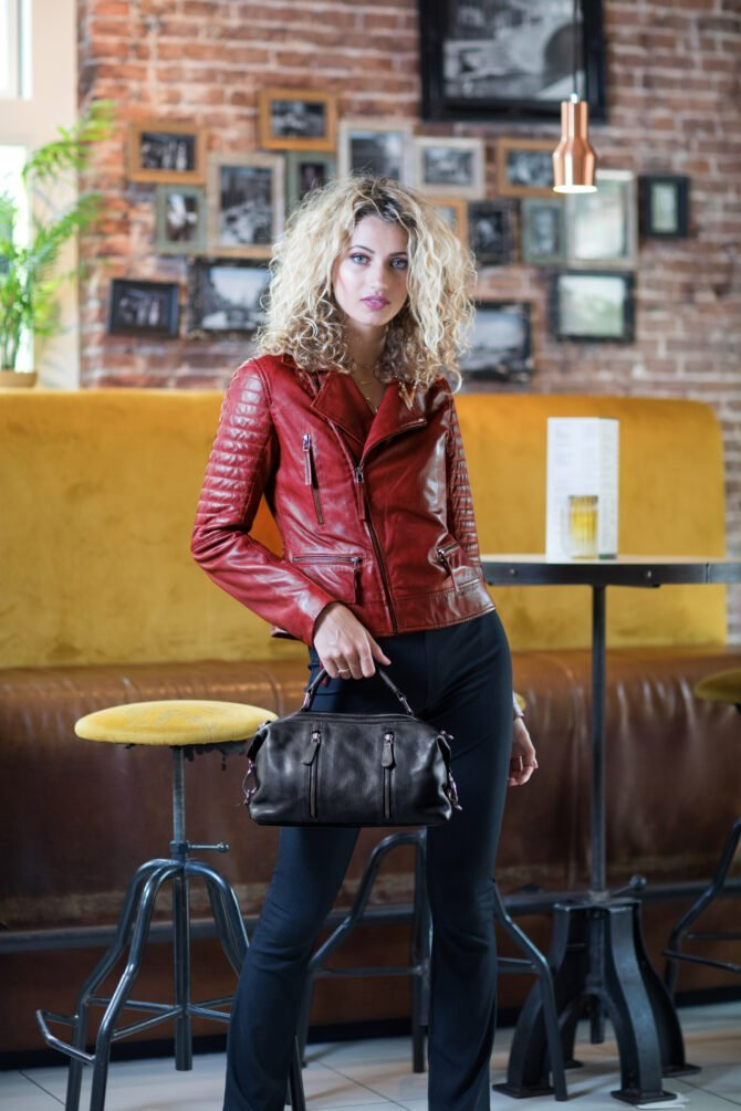 Leather Jacket Sfeer Red