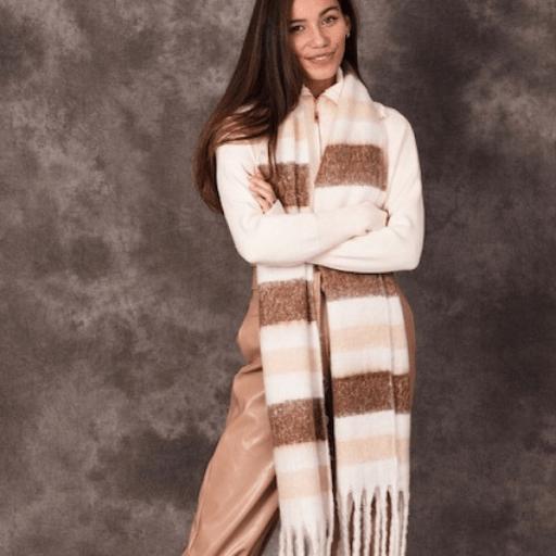 Warme Sjaal Mocha Fashion