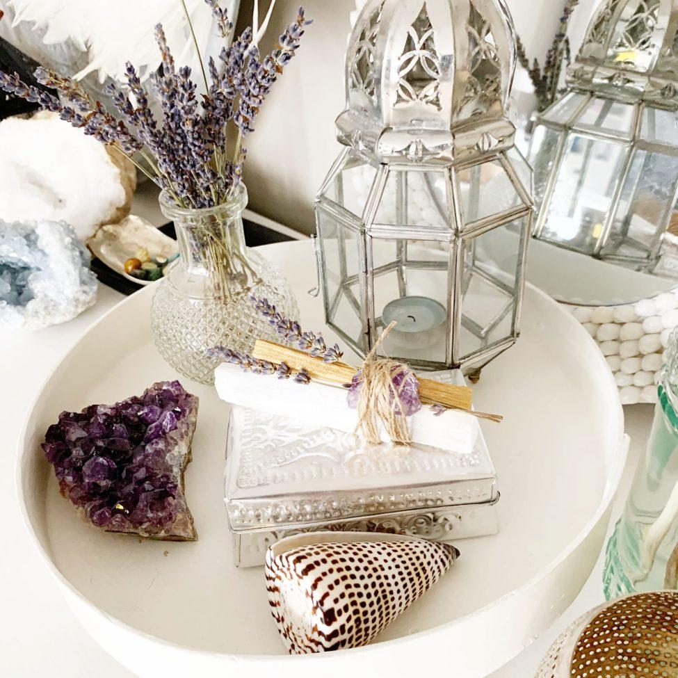 Budel Seleniet, Palo Santo En Amethist Met Lavendel By Sas Zuiveringsbundel