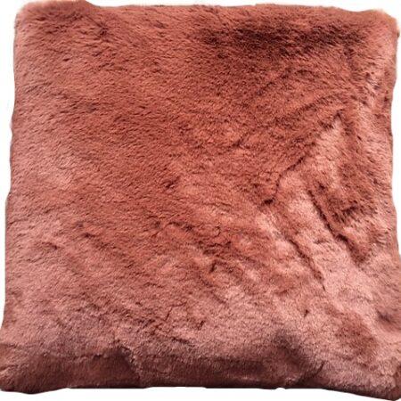 Kussen Fake Fur Old Pink Li