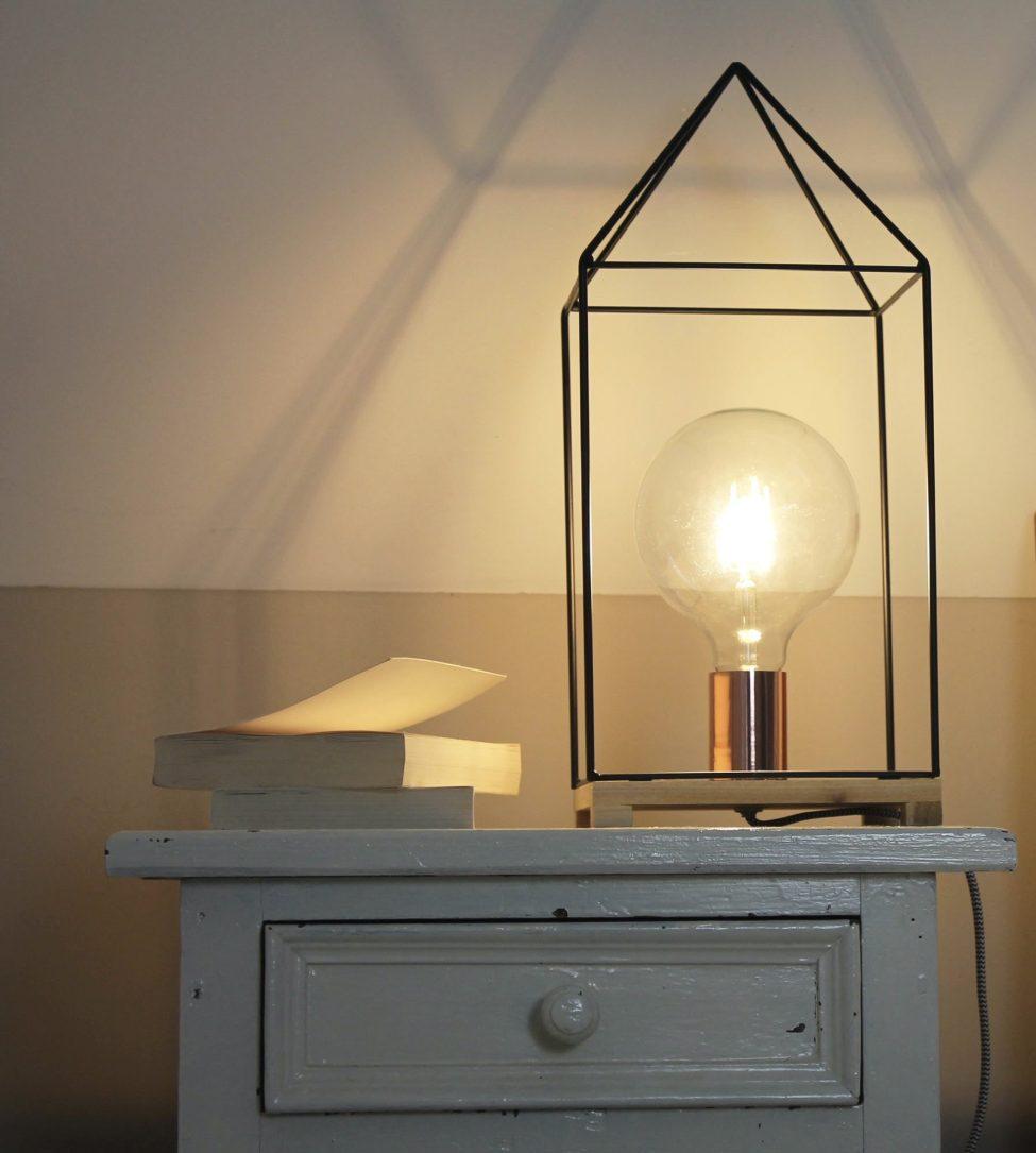 House lamp zwart metaal -Housevitamin