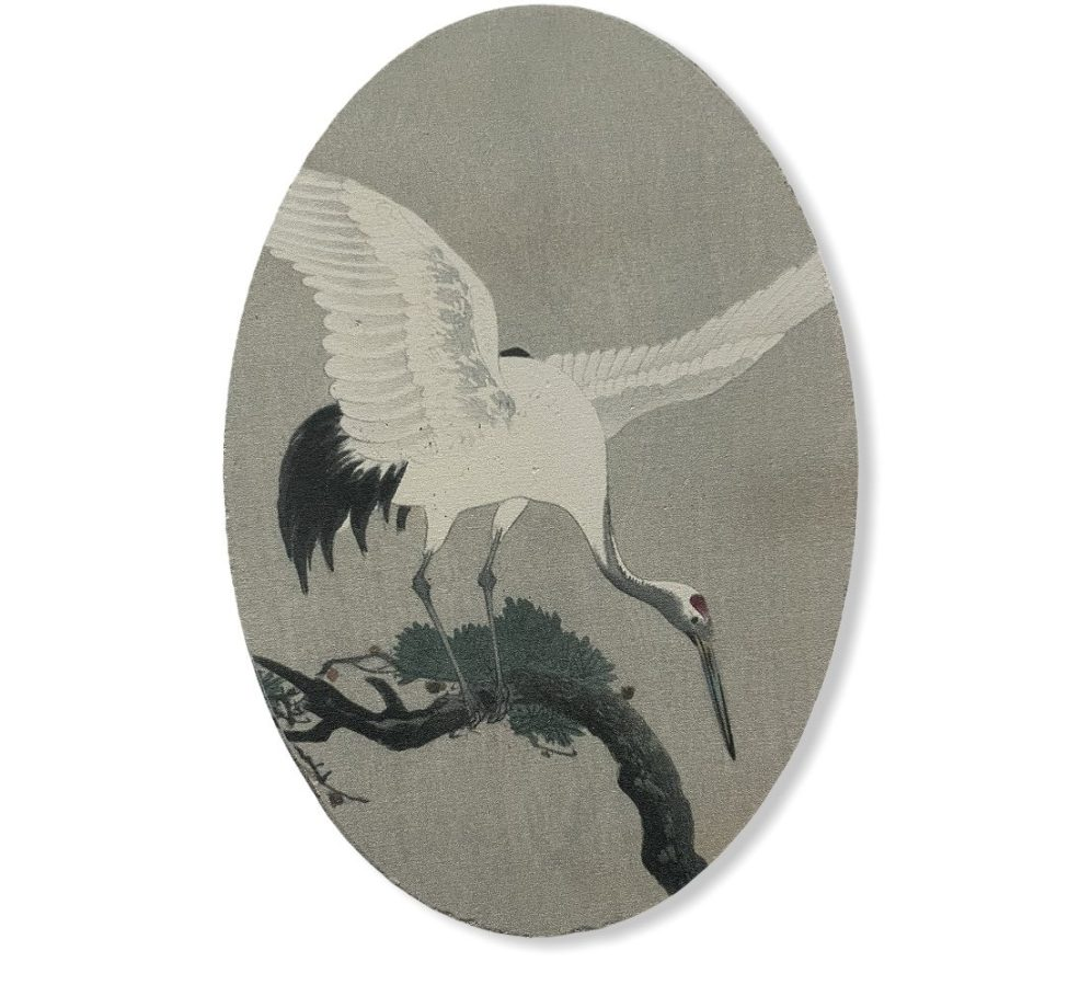 Paneeltje met Kraanvogel