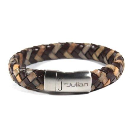 Gibson Bruin Mix,heren Armband,mannen Armband,gevlochten Leer,armband,bruin,naturel,by Julian (2)