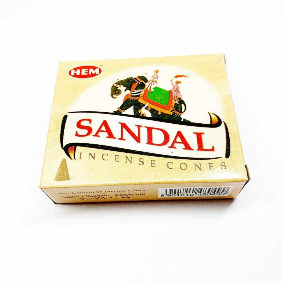 Sandalwood Cone Wierook Kegeltjes Hem By Sas
