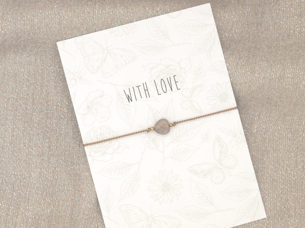 Armband Love,agaat,beige,goud,valentijn,moederdag,indah (2)