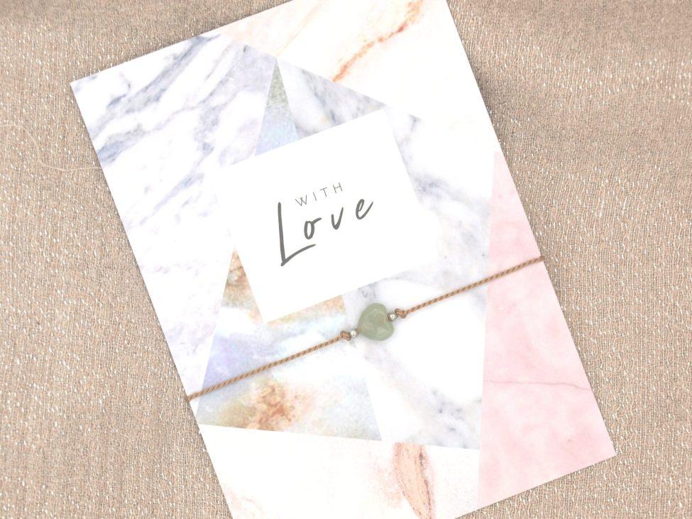 Armband Love,aventurijn,beige,zilver,valentijn,moederdag,indah (2)