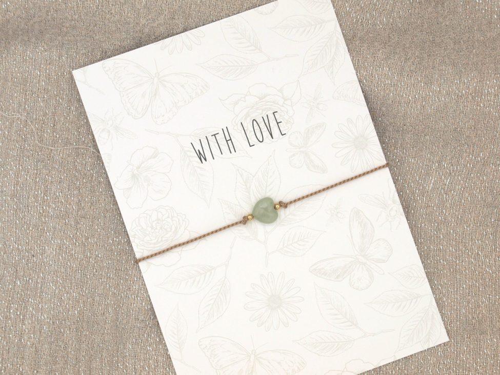 Armband Love,aventurijn,beige,zilver,valentijn,moederdag,indah