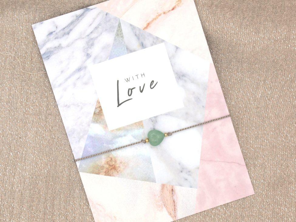 Armband Love,aventurijn,grijs,goud,valentijn,moederdag,indah