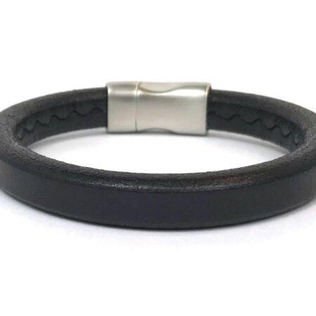 Ibanez,heren Armband,armband,mannen,leer,zwart,byjulian.2