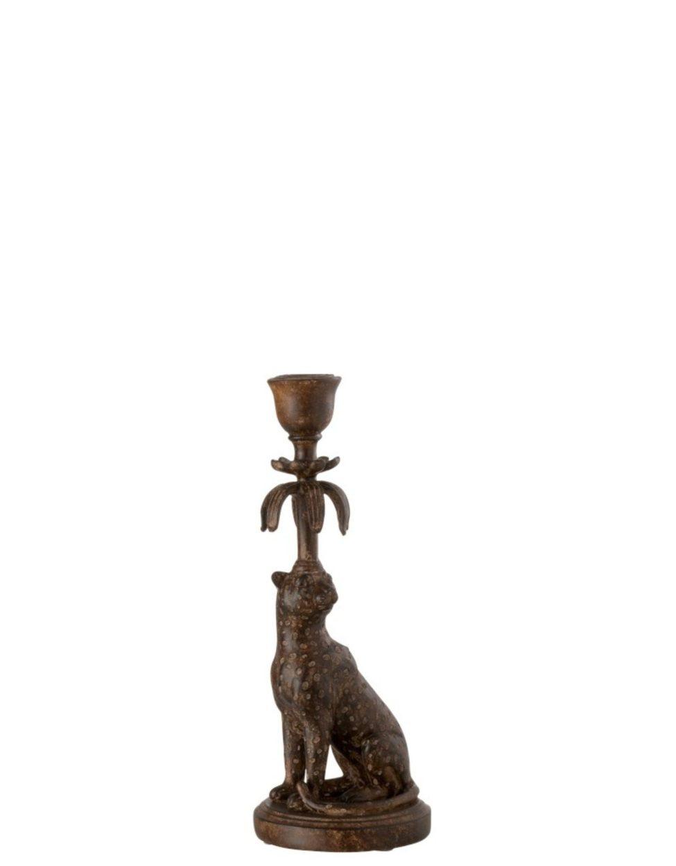 Njoy At Home Kandelaar Luipaard Bruin
