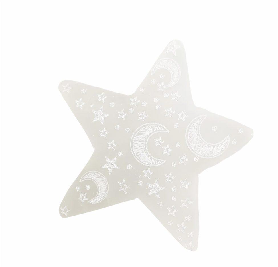 witte seleniet ster oplaadstation engelensteen spiritueel mindfulness by sas 2.1