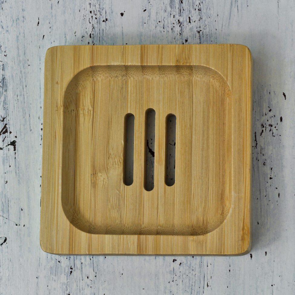 bamboe zeephouder vierkant voorkant