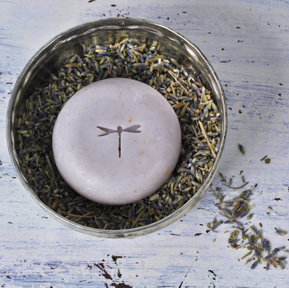 sun hamamschaal met lavendellief zeep.
