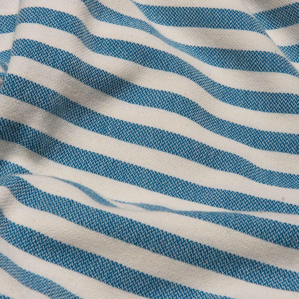 yazgibi hamamdoek stripe petrol detail