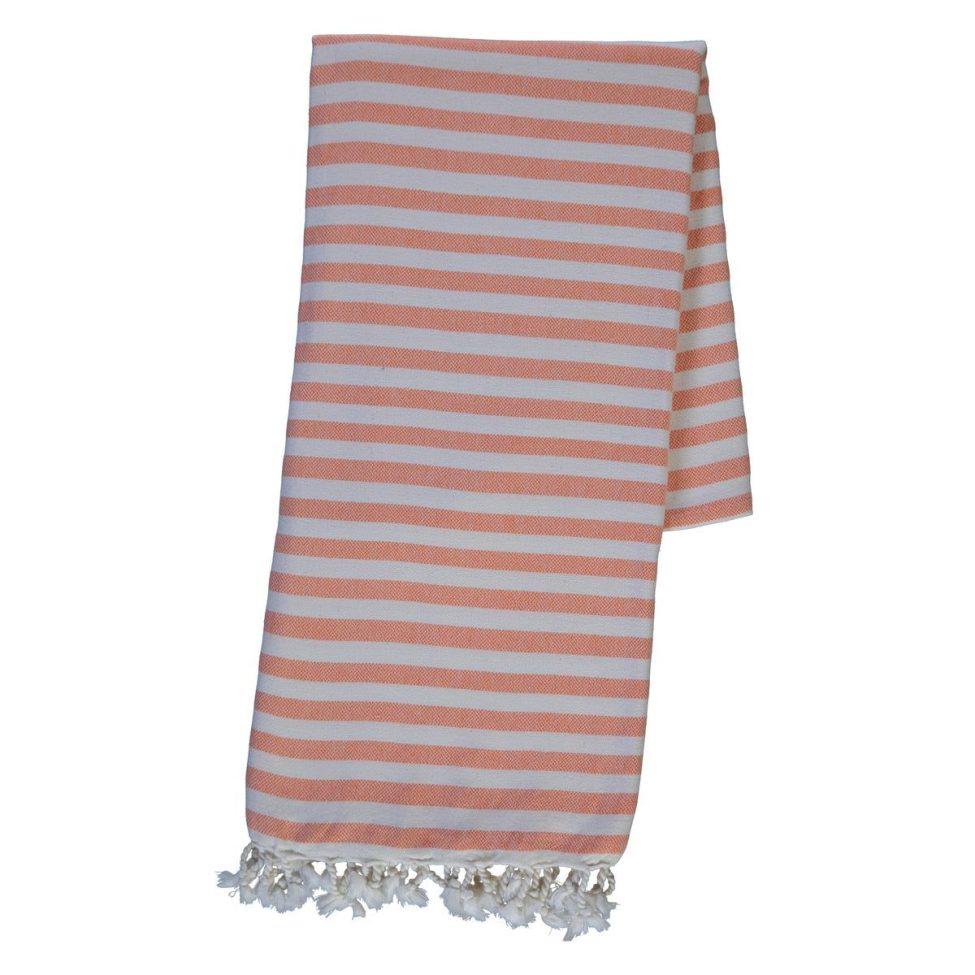 yazgibi hamamdoek stripe orange