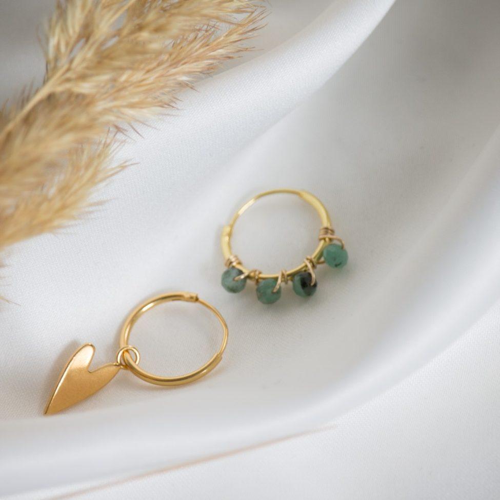 oorbellen nomi goud met bella labradoriet