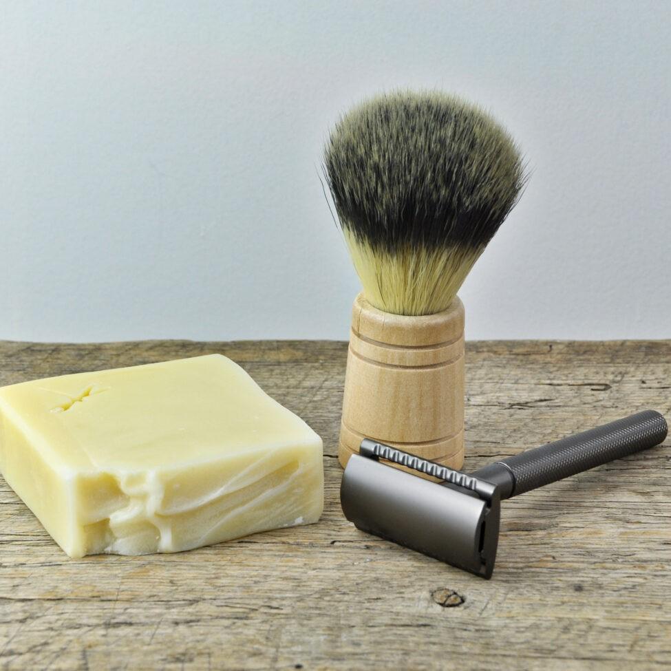 scheerzeep met safety razor